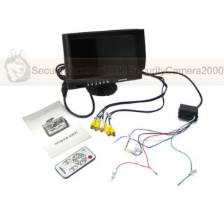 9 inch TFT LCD Car Rearview Monitor 640 x 234 w 4CH Video Input 1CH Audio Input