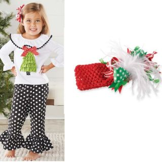 Mud Pie Baby Girls Christmas Tree Tunic Pants Leggings Set 111A039 Holiday New