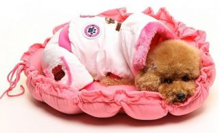 5Colors Pink Pet Puppy Dog Cat Soft Pet Bed Sleeping Bag Warm Cushion Pillow