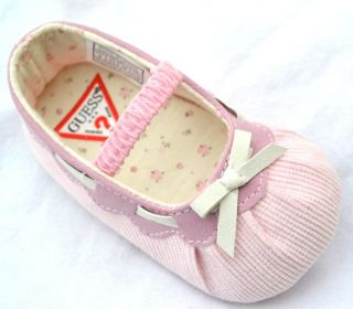 Mary Jane Pink Baby Girl Bows Shoes Size 2 3 4