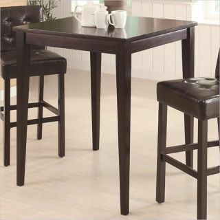 Coaster Counter Height Square Pub Table in Cappuccino   102587