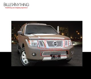 Nissan Pathfinder 2008 2012 Fine Mesh Chrome Grille Grill 4 PC Combo Kit