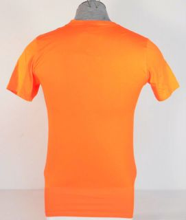 Nike Dri Fit NSW Orange Short Sleeve Tee T Shirt Mens