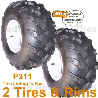 2 18x9 50 8 18 9 50 8 Golf Cart Go Kart Tires Rims Wheel 4ply Replace 18x8 50 8