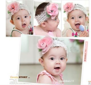 New Children Kids Newborn Baby Girls Lace Flower Headband Headwear Hair Band Hot
