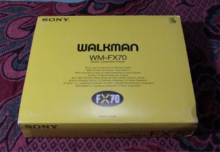 Sony Walkman Auto Reverse Radio Cassette Tape Player Wm FX70 Boxed Japan