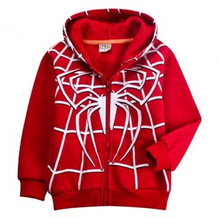 Cool Kids Toddlers Boys Girls Spider Man Front Zip Hoodies Clothes 2 8 Years