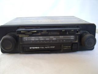 Classic Car Vintage Sharp Radio Cassette Player Pioneer Sound System Stereo 70'S