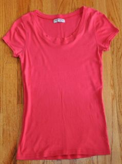 Michael Stars Raspberry Pink Scoop Neck Classic Tee Shirt One Size Fits Most