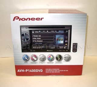 New Pioneer AVH P1400DVD Radio Car Stereo Double DIN DVD USB CD  Aux Player