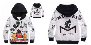New Cute Kids Boys Girls Mickey Mouse Funny Hoodies Clothes Aged 7 8years