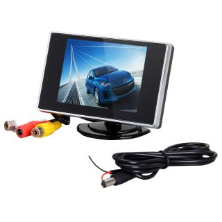 "4W DC 12V 3 5"" inch TFT LCD Rear View Car PAL NTSC Auto Switch Mirror Monitor US"