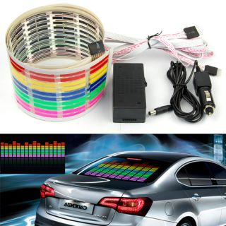 Car Back Windshield Music Rhythm Sound Activated Equalizer Lamp LED Light CLP