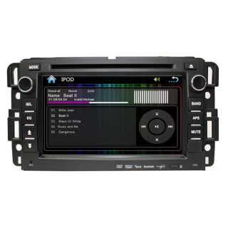 Car GPS Navigation Bluetooth iPod Radio Aux  TV DVD USB Fit Chevrolet GMC