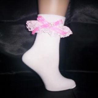 Custom Made Adult Sissy Womens Mens Flirty Dainty Sexy Pink Satin Bow Anklets