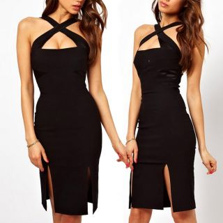 Sexy Elegant Lady Fashion Girls Zip Evening Cocktail Party Club Wear Short Dress