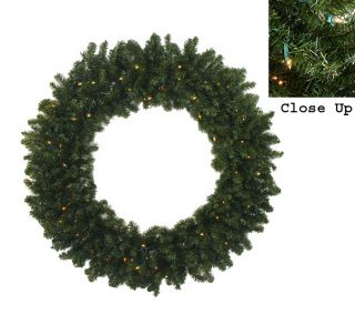 "60"" Pre Lit Commercial Canadian Pine Artificial Christmas Wreath Clear Lights"