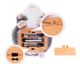 Funny Mimicry Pet Plush Talking Animal Swing Hamster Kids Child Play Plush Toy B
