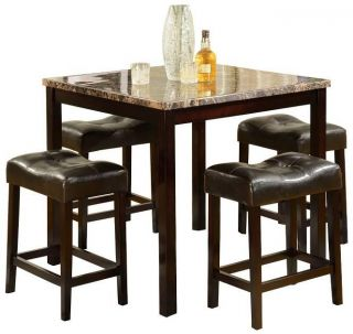 Crown Mark Kinsey 5 Piece Counter Height Table Stool $279 99
