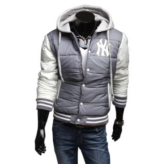 Male Tracksuit Tops Men's New York Hoodies Baseball Cardigan Hooded Jacket Coats