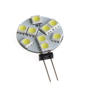 10pcs G4 9 SMD 5050 LED Light Bulb Home Car RV Marine Boat Lamp Pure White 12V