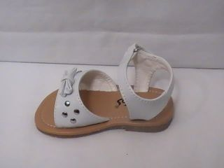 Baby Girl White Sandal w Lil Bow 38 Infant Size 4
