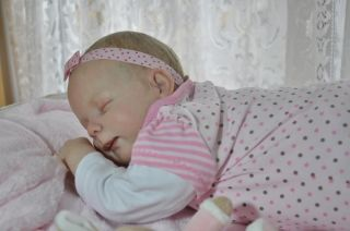 Reborn Baby Girl Heather by Donna RuBert Combo Hair GHSP You Can Adopt Her Now