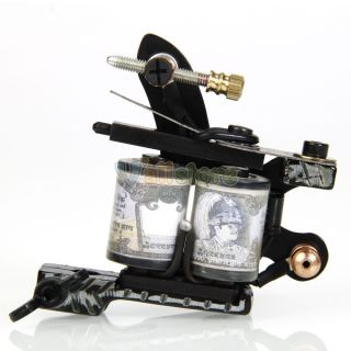 Cast Iron Tattoo Machine Gun Shader Liner Conductive Coils 12 Wraps Set Parts
