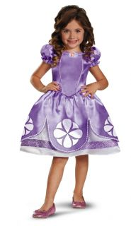 Toddler Girls Disney Princess Sparkle Classic Sofia The First Dress Costume