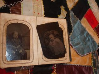 Tintypes 12 Folder Photographs Antique Primitive Civil War Era