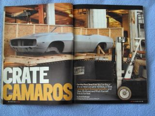 Hot Rod Magazine October 2004 Crate Camaros The Chevy Hemi 500 HP Mopar 360