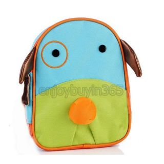 Kids Cartoon Animal Zoo Pack Boys Girls Schoolbag Infant Canvas Baby Lunch Bag