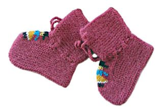 Baby Booties Alpaca Wool Hand Made Sorted Colors