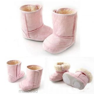 New Baby Girl Boy Unisex Infant Toddler Winter Warm Fur Shoes Snow Boots 6 24M