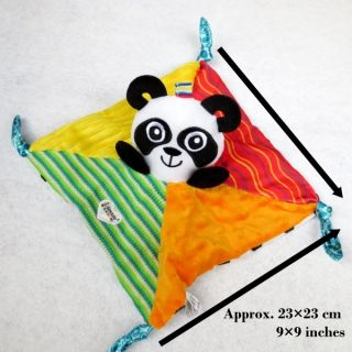 Infant Baby Kid Children's Lamaze High Contrast Panda Rattle Blankie Plush Toys