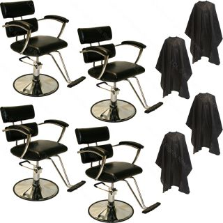 4 Sturdy Professional Hydraulic Barber Styling Chair Hair Beauty Salon Equipment