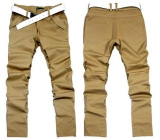 Fashion Korean Stylish Men's Boy's Slim Fit Casual Style Straight Pants Trousers
