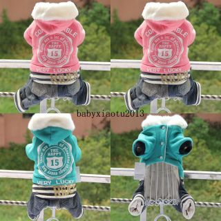 Lucky Sports Dog Clothing Wear Autumn Winter Coats Dog Jacket Sweater Clothes