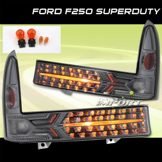 99 04 Ford F250 F350 Super Duty Excursion Smoke Bumper Signal Lights Left Right