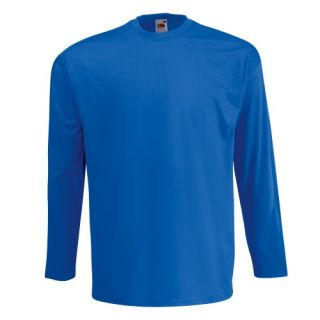 Free PNP Fruit of The Loom Mens Valueweight Crew Neck Long Sleeve T Shirt