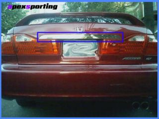 98 02 Honda Accord Sedan Chrome Trunk Trim Tailgate Handle Hatch Cover 99 00 01