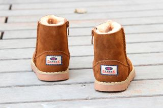 Infant Baby Boys Girls Toddler Winter Shoes PU Leather Cowhells Sole Snow Boots