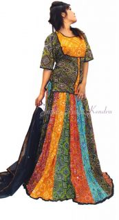 Indian Rajasthani Ghagara Lehanga Choli Skirt Traditional Women Cloths Dress