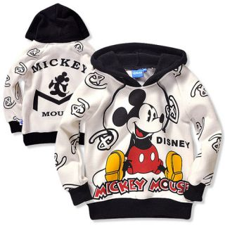Christmas Sale Infant Baby Boys Mickey Mouse Fleece Hoodie Top 5 6Years