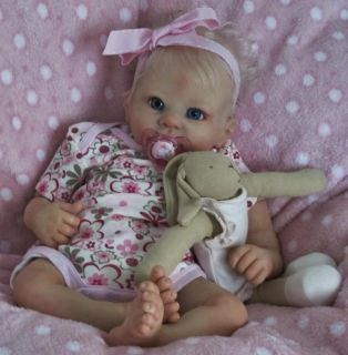 Doves Nursery Realistic Reborn Baby Girl Cradle Kit Holly by Linda Murray