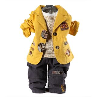 Cool Baby Boy Outfit Winter Clothes for Kids Suit Outwear Coat Pants Jacket A6