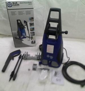 AR Blue Clean AR383 1 900 PSI 1 5 GPM 14 Amp Electric Pressure Washer Hose Reel
