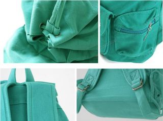Fashion Green Cute Canvas Casual Punk Girl Shoulder Bag School Backpack Satchel