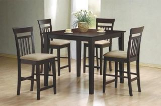 5 Piece Pub Dining Table and Chairs by Coaster 150041