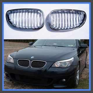 04 07 BMW E60 5 Series Chrome Front Center Grille Grill OE Style